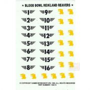 Blood Bowl Reikland Reavers Transfer Sheet Decals
